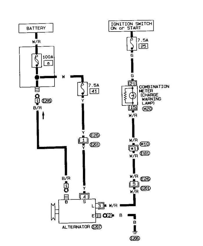 Nissan 1400 Alternator Wiring Diagram